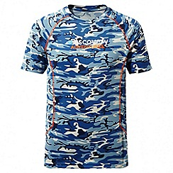 Craghoppers - Kids deep blue combo Discovery adventures short sleeved t-shirt
