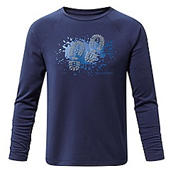 Craghoppers - Blue 'Mimir' long sleeved graphic tee
