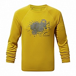 Craghoppers - Yellow 'Mimir' long sleeved graphic tee