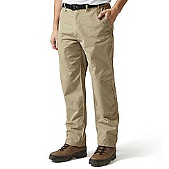 Craghoppers - Brown 'Kiwi' classic trousers - short leg length