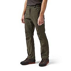 Craghoppers - Dark khaki kiwi pro active short leg trousers
