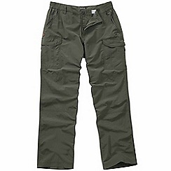 Craghoppers - Dark khaki Nosilife cargo trousers - long length