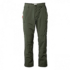 Craghoppers - Dark khaki Nosilife cargo trousers - regular length