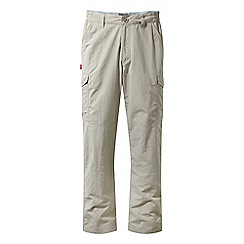 Craghoppers - Beige nosilife regular length cargo trousers
