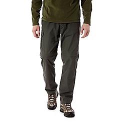 Craghoppers - Dark khaki C65 convertible trousers - short length