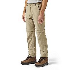 Craghoppers - Brown trek convertible regular length trousers