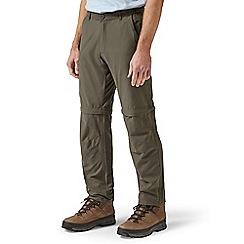 Craghoppers - Green trek convertible regular length trousers