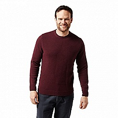 Craghoppers - Red 'Noa' waffle knit jumper