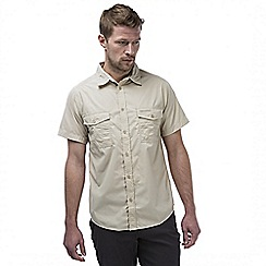 Craghoppers - Oatmeal kiwi short sleeved button shirt