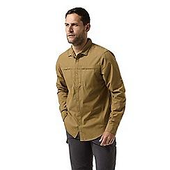 Craghoppers - Brown 'Kiwi' trek long sleeved shirt