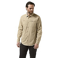 Craghoppers - Beige kiwi trek long sleeved shirt