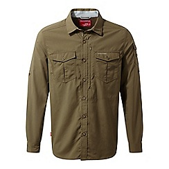 Craghoppers - Brown nosilife adventure long sleeved shirt