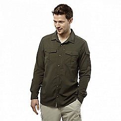 Craghoppers - Dark khaki nosilife adventure long-sleeved shirt