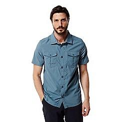 Craghoppers - Smoke blue Nosilife adventure short sleeved shirt
