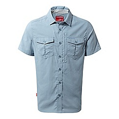 Craghoppers - Blue nosilife adventure short sleeved shirt