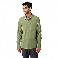 Craghoppers - Soft khaki Nosilife pro long sleeved shirt