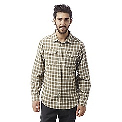 Craghoppers - Espresso brown Kiwi long sleeved check shirt