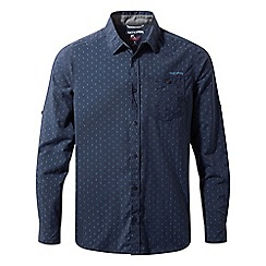 Craghoppers - Night blue combo Nosilife todd long sleeved shirt