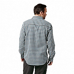 Craghoppers - Grey 'Kiwi' long sleeved check shirt