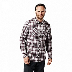 Craghoppers - Red 'Andreas' long sleeved check shirt