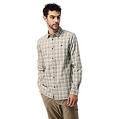 Craghoppers - Quarry grey combo Brentwood long sleeved check shirt