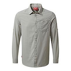Craghoppers - Grey nosilife tatton long sleeved shirt