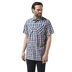 Craghoppers - Blue 'Jamieson' short sleeved check shirt