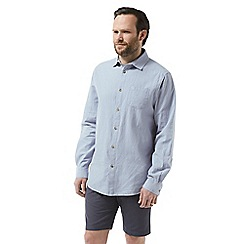 Craghoppers - Blue 'Porter' long sleeved shirt