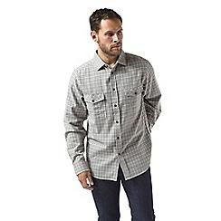 Craghoppers - Grey kiwi long sleeved check shirt