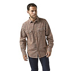 Craghoppers - Orange kiwi long sleeved check shirt