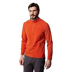 Craghoppers - Spiced orange Nosilife active long sleeved half zip