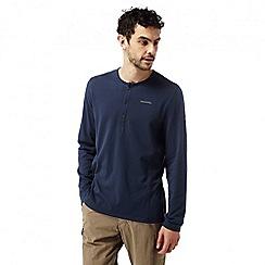 Craghoppers - Night blue Nosilife newark long sleeved henley shirt