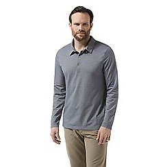 Craghoppers - Blue nosilife long sleeved ellerbek polo shirt