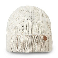 Craghoppers - White 'Dolan' knit hat