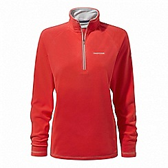 Craghoppers - Red 'Seline' half zip fleece