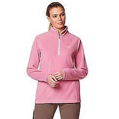 Craghoppers - Pink 'Seline' half zip fleece