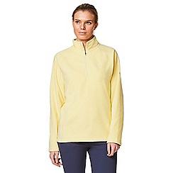 Craghoppers - Yellow 'Seline' half zip fleece