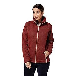 Craghoppers - Red 'Jasmine' full zip fleece jacket