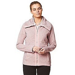Craghoppers - Pink 'Callins' knit look fleece jacket