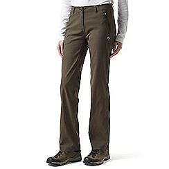 Craghoppers - Mid khaki kiwi pro stretch trousers - long leg length