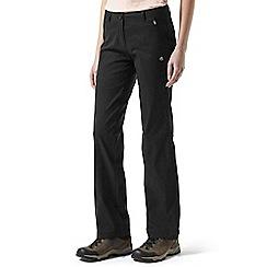 Craghoppers - Black kiwi pro stretch trousers - regular leg length