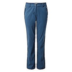 Craghoppers - Blue 'Kiwi' pro stretch long length trousers