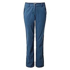 Craghoppers - Blue 'Kiwi' pro stretch regular length trousers
