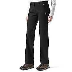 Craghoppers - Black kiwi pro convertable trousers
