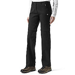 Craghoppers - Black kiwi pro convertible trousers