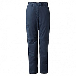 Craghoppers - Soft navy classic Kiwi convertible trousers - long length