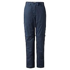 Craghoppers - Soft navy classic Kiwi convertible trousers - regular length