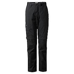 Craghoppers - Black classic Kiwi convertible trousers - regular length