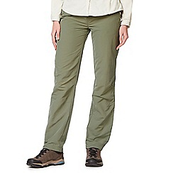 Craghoppers - Green nosilife trousers - long length