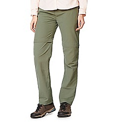 Craghoppers - Green nosilife zip off trousers - short length